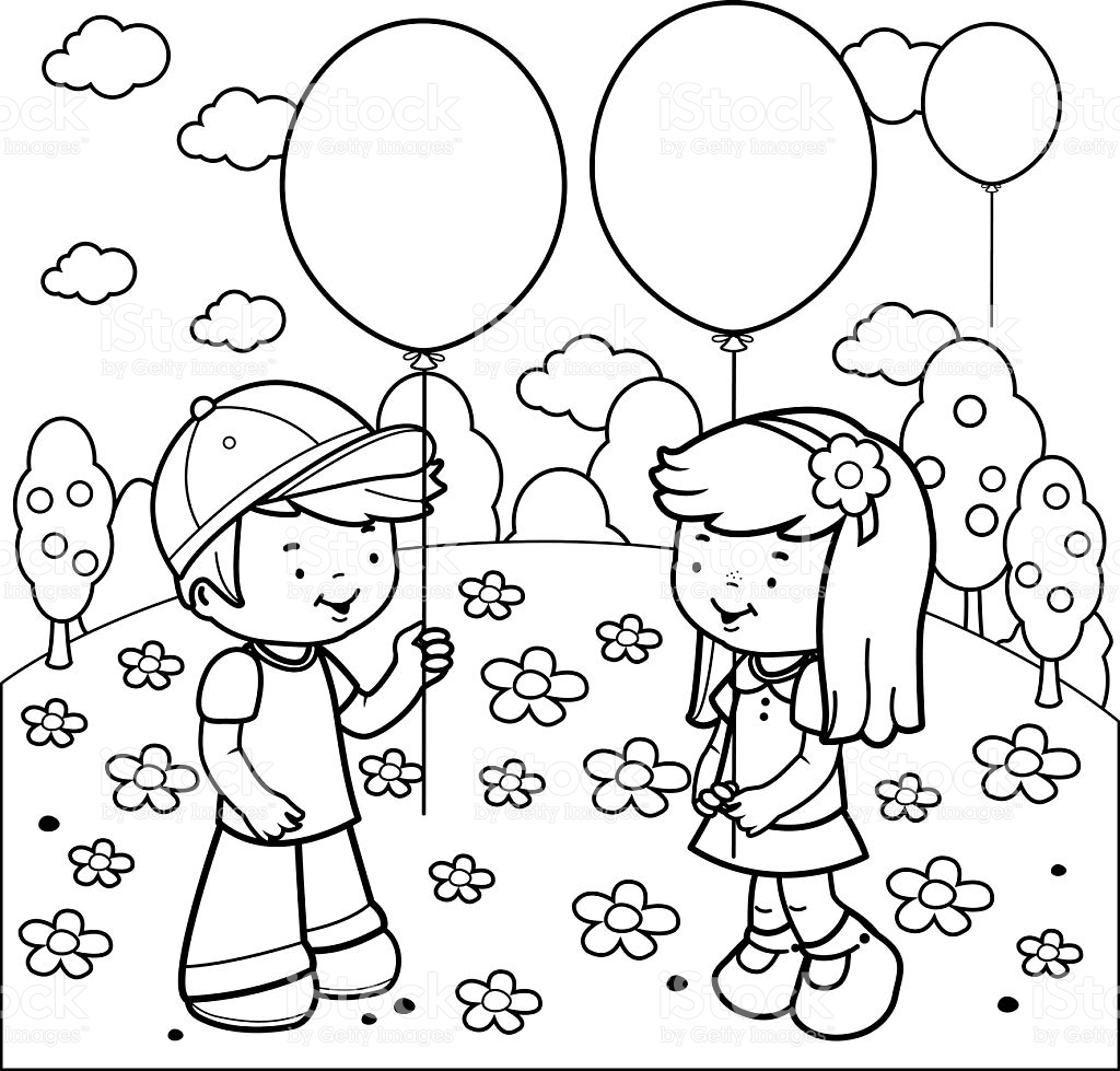 Children With Balloons Wallpapers High Quality