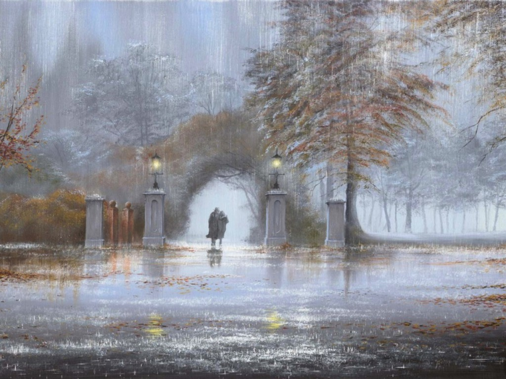 Fall In Love Couples Wallpapers Walking In The Rain Wallpapers High Quality Download Free