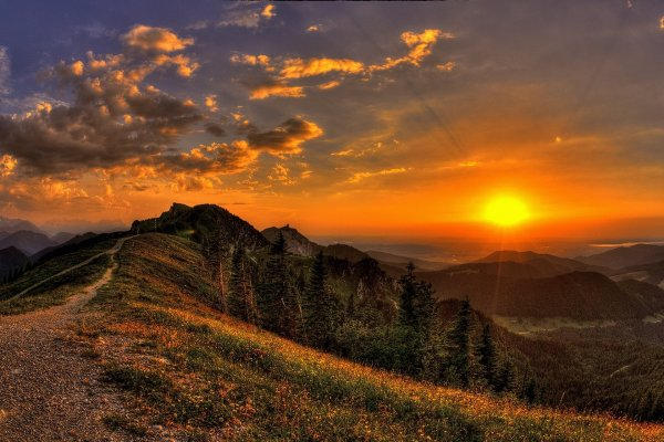 Sunset In The Mountains Wallpapers High Quality | Download ...