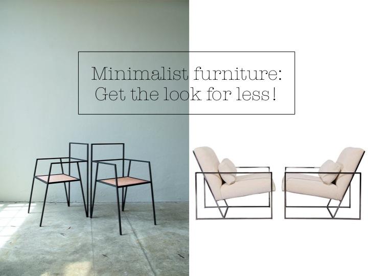 Minimalist skinny furniture get the designer look for