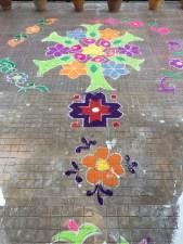 Floor art near the library