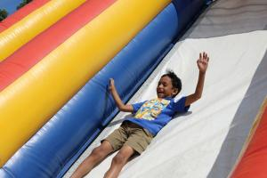 Company picnic inflatable slides