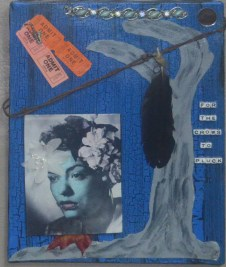 """""""Blood at the Root"""" Homage to Billie Holiday 11"""" x 14"""" Mixed media"""