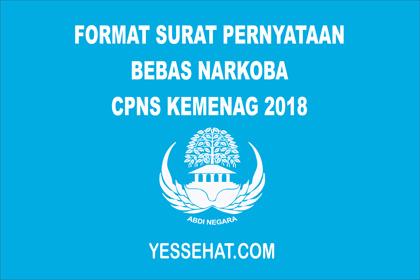 Contoh Surat Pernyataan Bebas Narkoba Kementerian Agama 2018