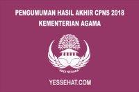 Pengumuman Hasil Akhir CPNS Kementerian Agama 2018