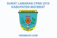 Contoh Surat Lamaran CPNS Kabupaten Maybrat 2019