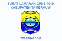 Contoh Surat Lamaran CPNS Kabupaten Tambrauw 2019