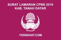 Contoh Surat Lamaran CPNS Kabupaten Tanah Datar 2019