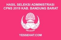 Hasil Seleksi Administrasi CPNS Kabupaten Bandung Barat Tahun 2019