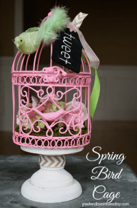 Spring Bird Cage with Hometalk and Michaels | Yesterday On ...