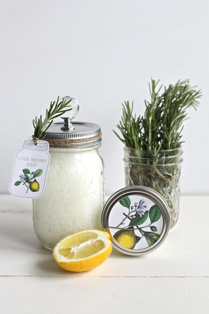 Lemon Rosemary Scrub and Printable Tags  Yesterday On Tuesday