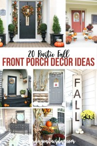 20 Rustic Fall Front Porch Ideas | Yesterday On Tuesday