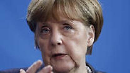 Merkel: Keep working on 2-state Mideast solution