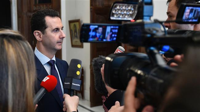Tide of Syria conflict turning in favor of Damascus, Moscow: Assad