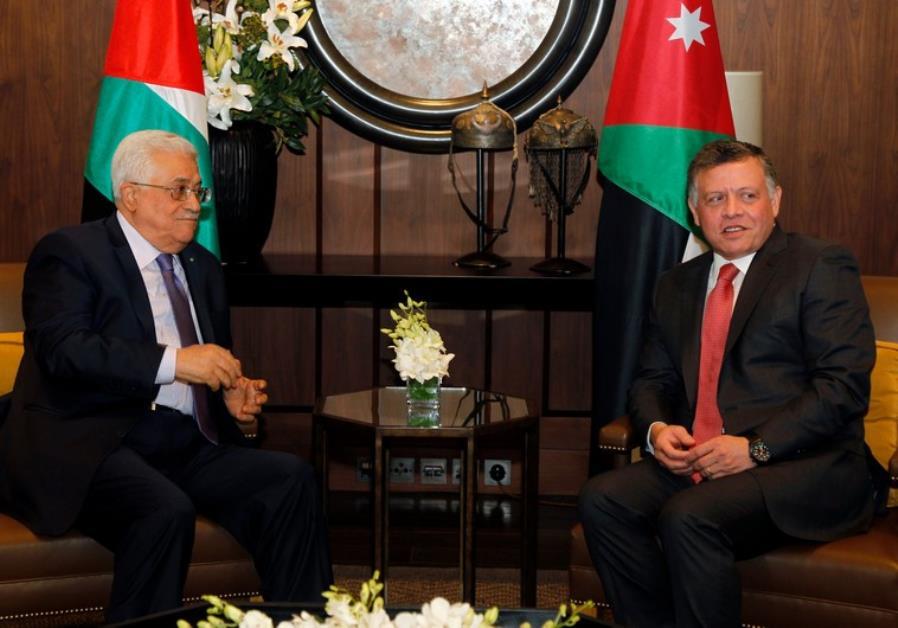 ABBAS, JORDANIAN KING COORDINATE STANCE AHEAD OF TRUMP MEETING