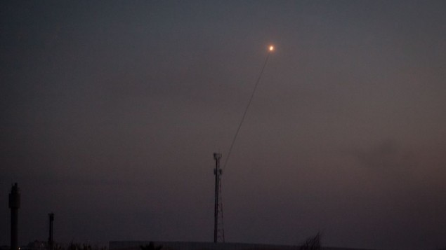 Gaza rocket hits open area in southern Israel, no injuries