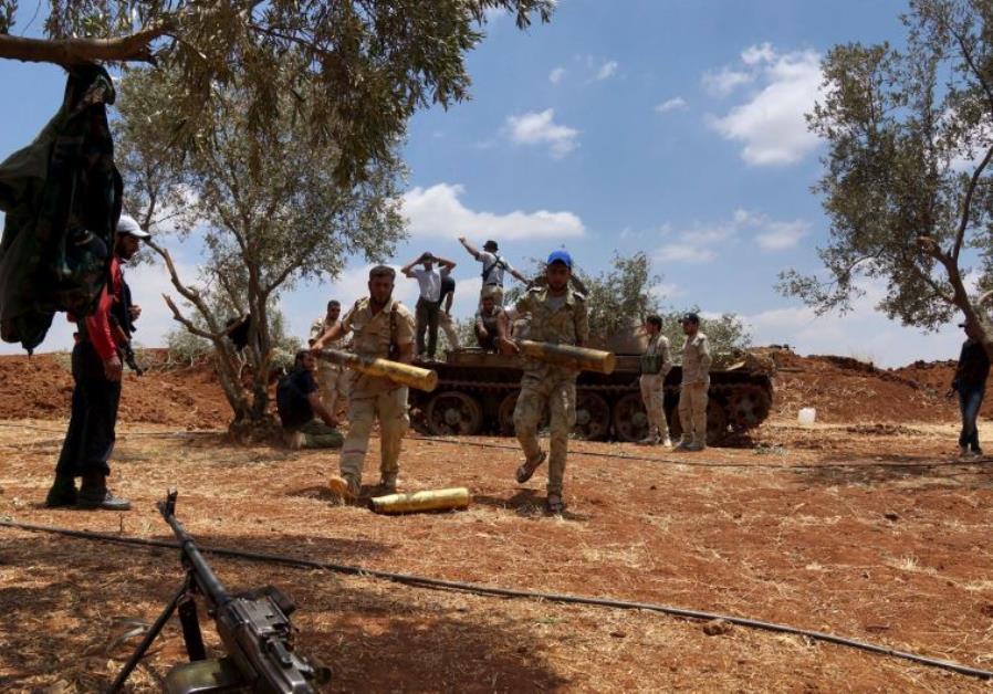SYRIAN REBELS NEAR GOLAN ASK WORLD FOR SUPPORT AGAINST 'ASSAD'S TERRORIST REGIME'