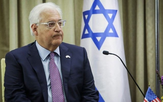 Washington rebuffs own envoy over statement backing settlements