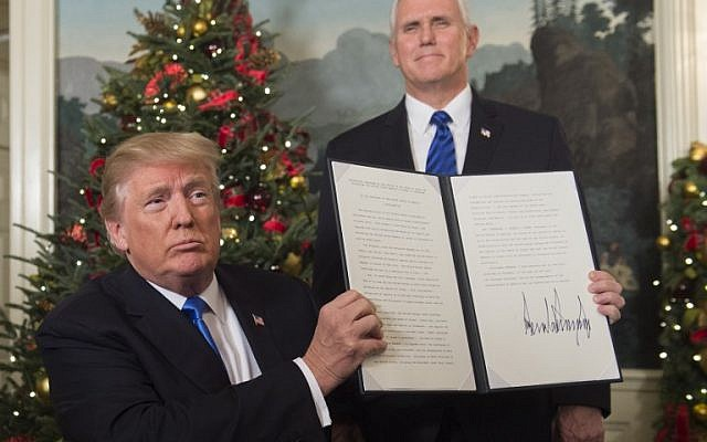 Text of Trump's official proclamation of Jerusalem as capital of Israel