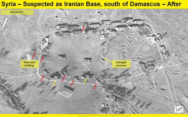 Satellite shows aftermath of alleged Israeli strike on Iranian base in Syria
