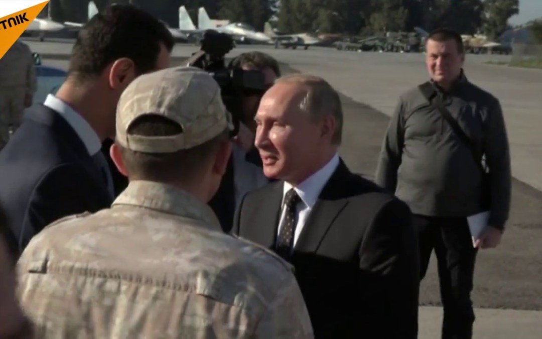 Putin meets Assad at Russian military base in surprise visit to Syria – official video