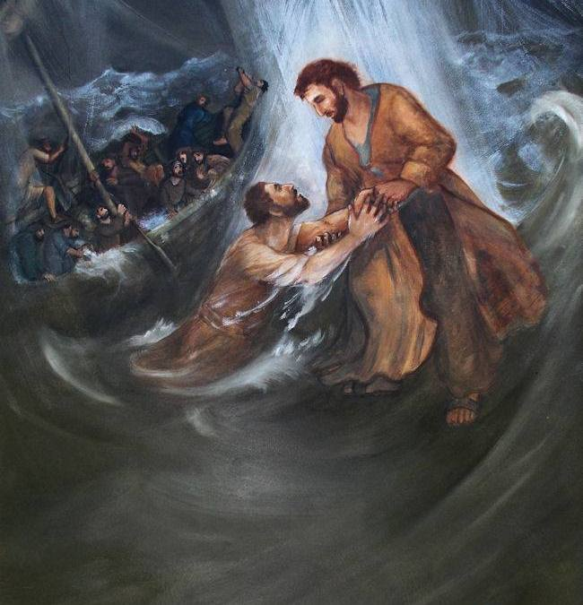 """Beginning to sink, he cried, saying, Lord, save me."" Matthew 14:30"