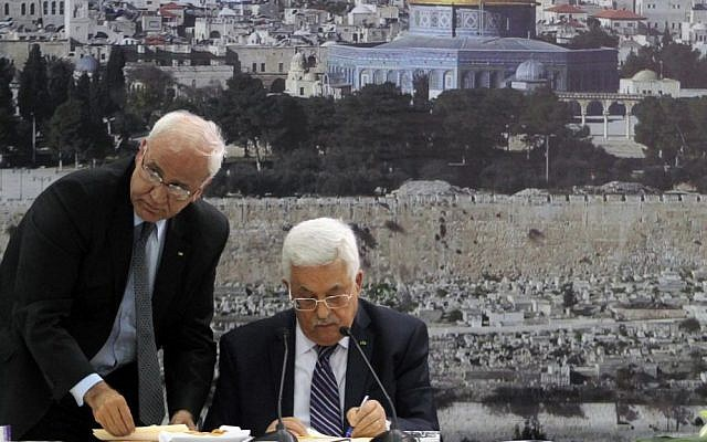 Top PA negotiator 'urged Abbas to reject US peace deal as details emerged
