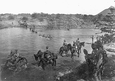 Fording a River (Image from www.journal.forces.gc.ca)