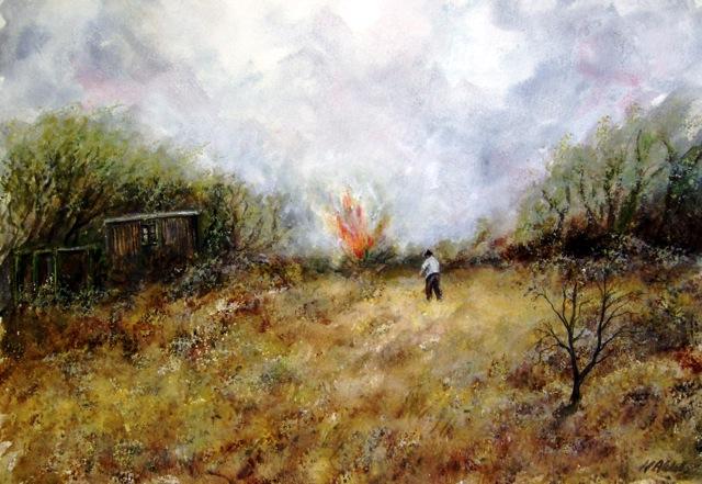 burning rubbishl