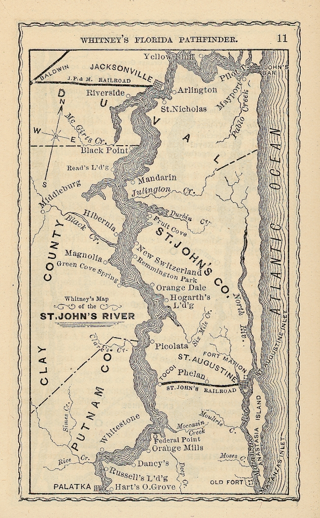 St. Johns River Map - 1876 (Image from Wikipedia)