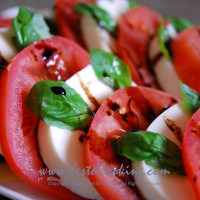 Caprese Salad with Balsamic Vinegar Reduction