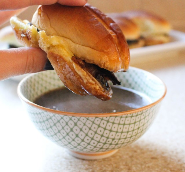 French Dip Sliders with Garlic Aioli & Au Jus | Yes to Yolks