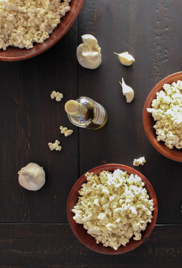Garlic-Truffle Popcorn | Yes to Yolks