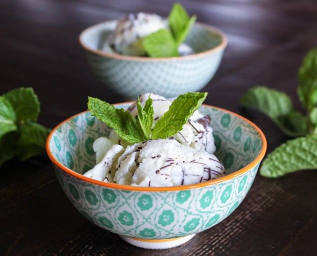 Fresh Mint Gelato with Chocolate Ripple | Yes to Yolks