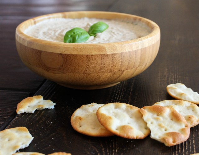 Garlicky White Bean & Basil Hummus | Yes to Yolks