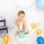 Banana Vanilla Smash Cake with Banana Buttercream (baby's 1st birthday smash cake!) | yestoyolks.com