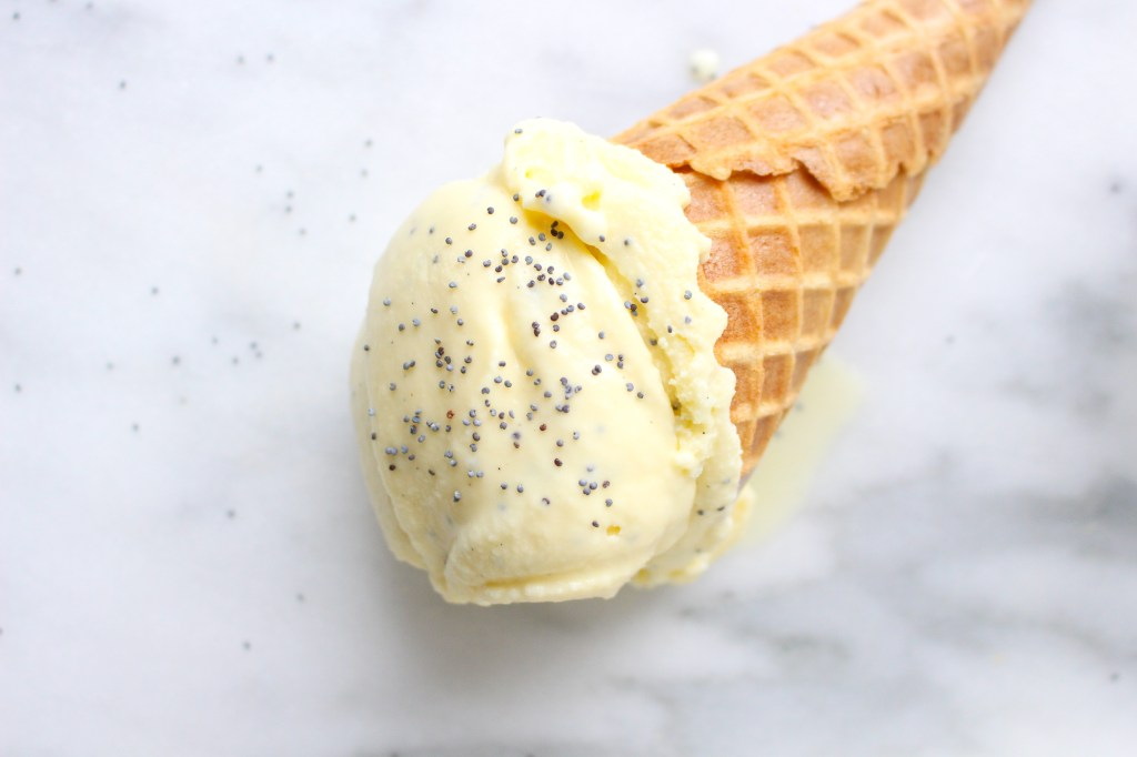 Lemon Poppy Seed Ice Cream | yestoyolks.com