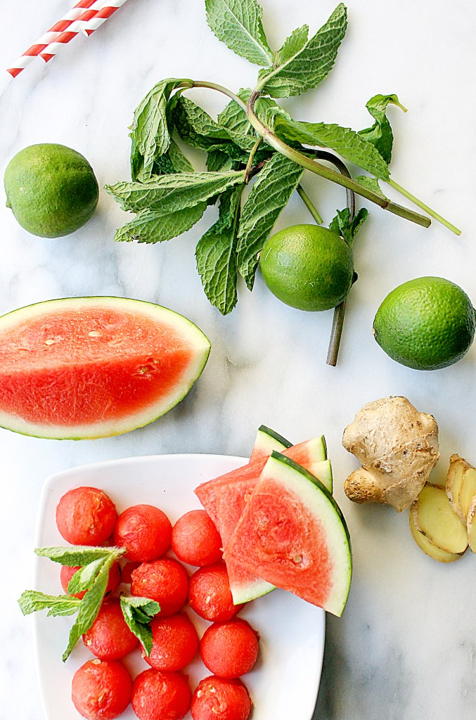 Ginger-Mint Watermelon Mojitos | yestoyolks.com