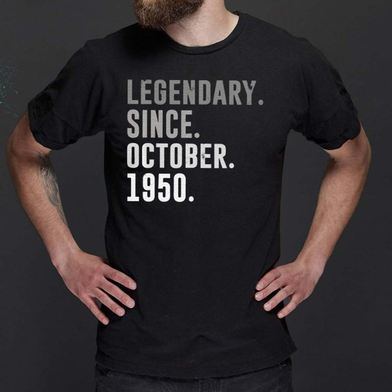 70th-Birthday-Legendary-Since-October-1950-Classic-T-Shirt
