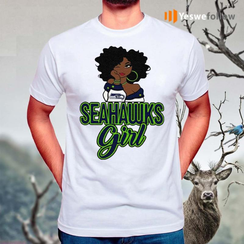 Black-Girl-Seattle-Seahawks-Shirt