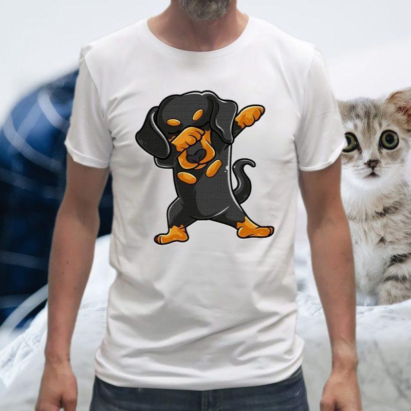Cute Dabbing Dachshund Shirt Funny Dachshund Dab T-Shirts