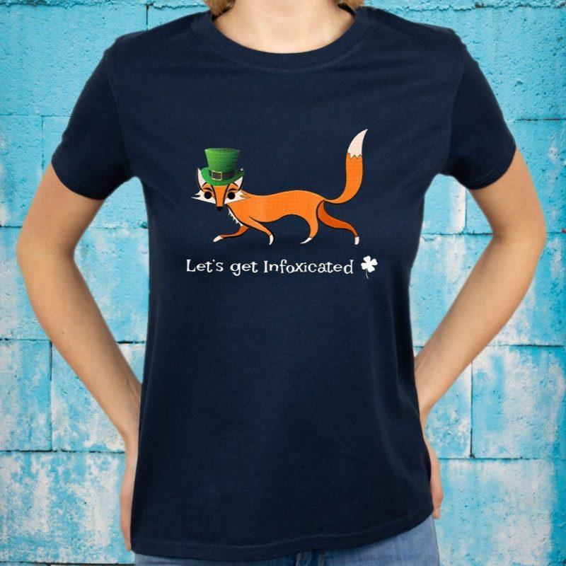 Funny St Patricks Day Drinking Fox Pun Shirt Infox Classic T-Shirts