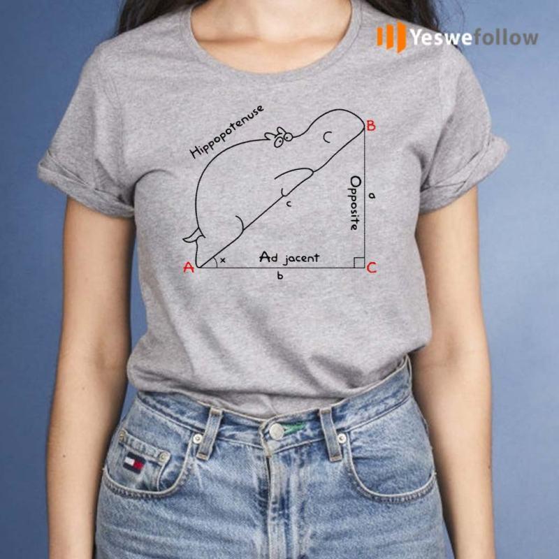 Hippopotenuse-Math-Geometry-Shirt
