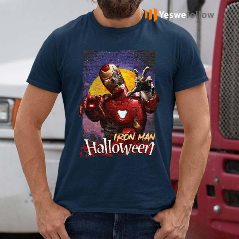 Marvel-Horror-Zombie-Iron-Man-Halloween-T-Shirts