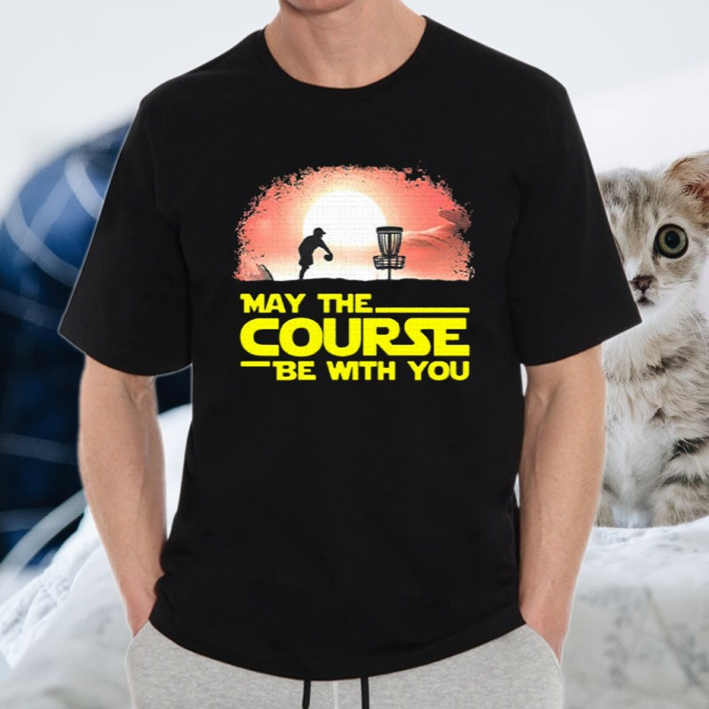 disc golf may the course be with you sunset T-Shirt