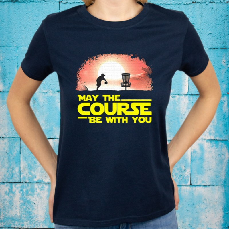 disc golf may the course be with you sunset T-Shirts