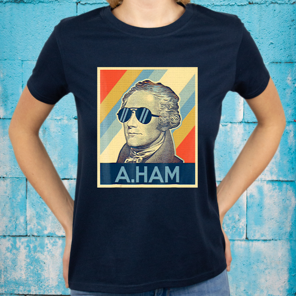 hamilton wearing sunglasses art T-shirts