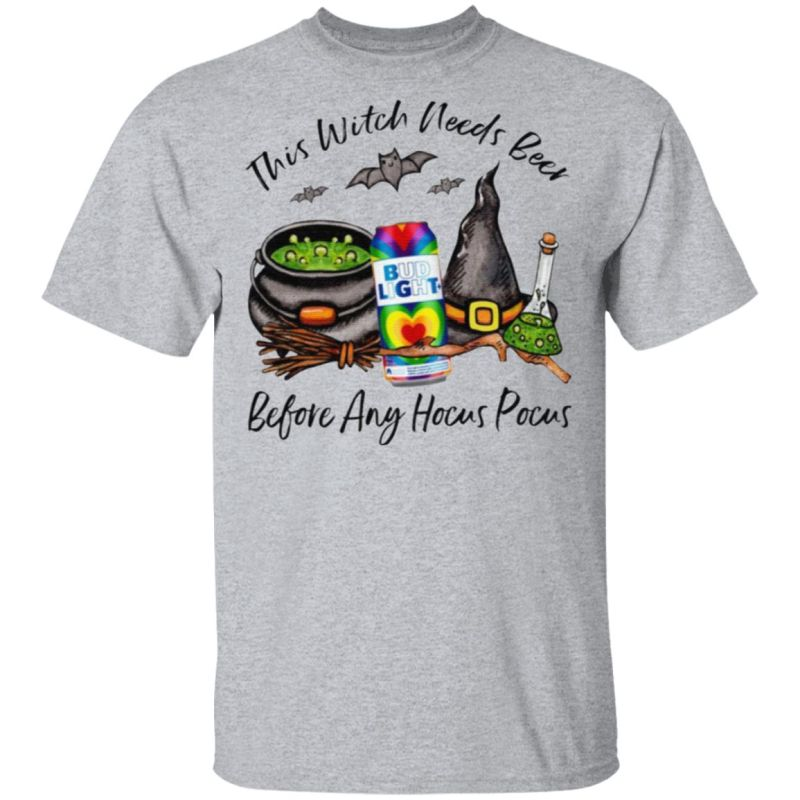 Bud Light Rock Summer Love Ale Can This Witch Needs Beer Before Any Hocus Pocus T-Shirt