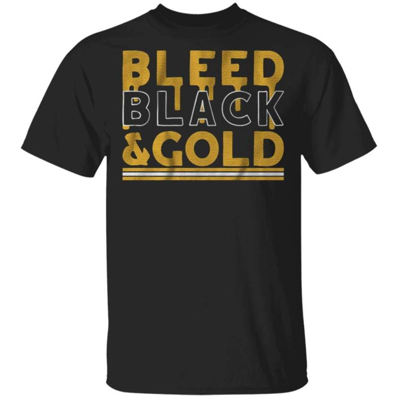 bleed black and gold t shirt
