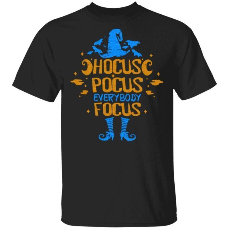 Halloween Hocus Pocus Focus Teacher T Shirt